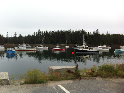 Winter Harbor Maine lobster fishing village