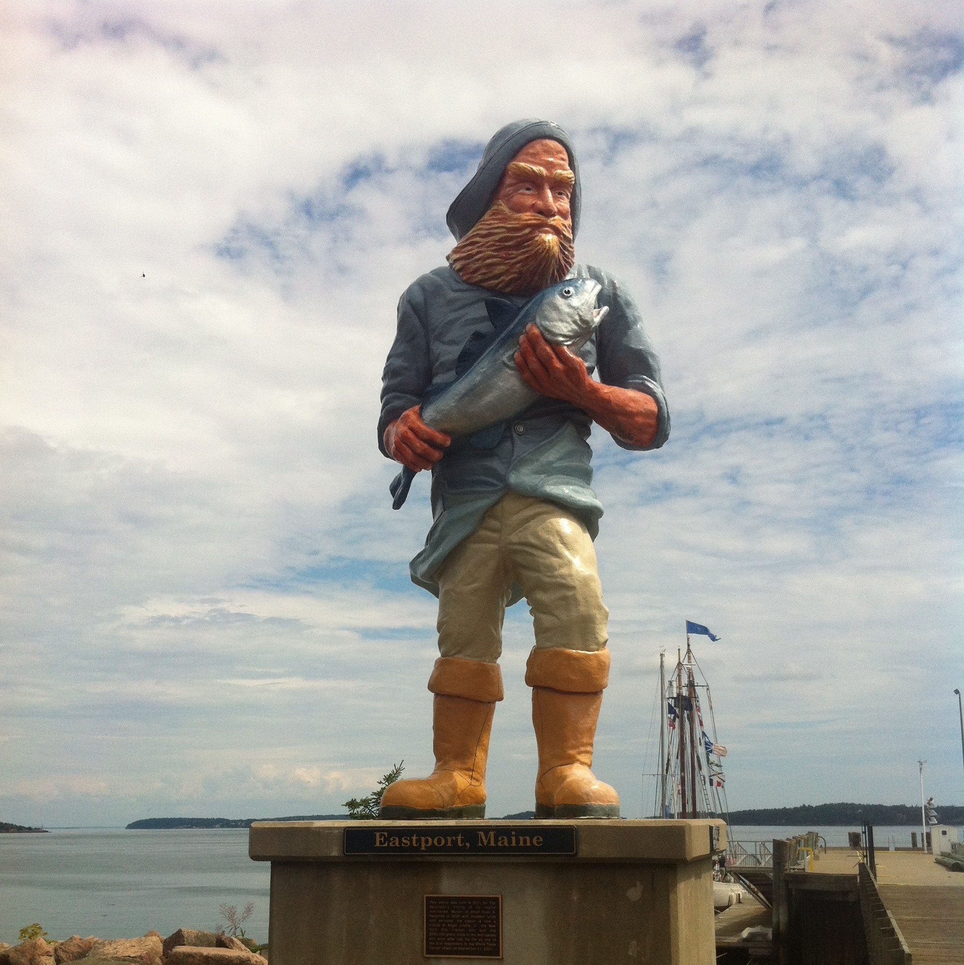 Fisherman Statue eastport maine