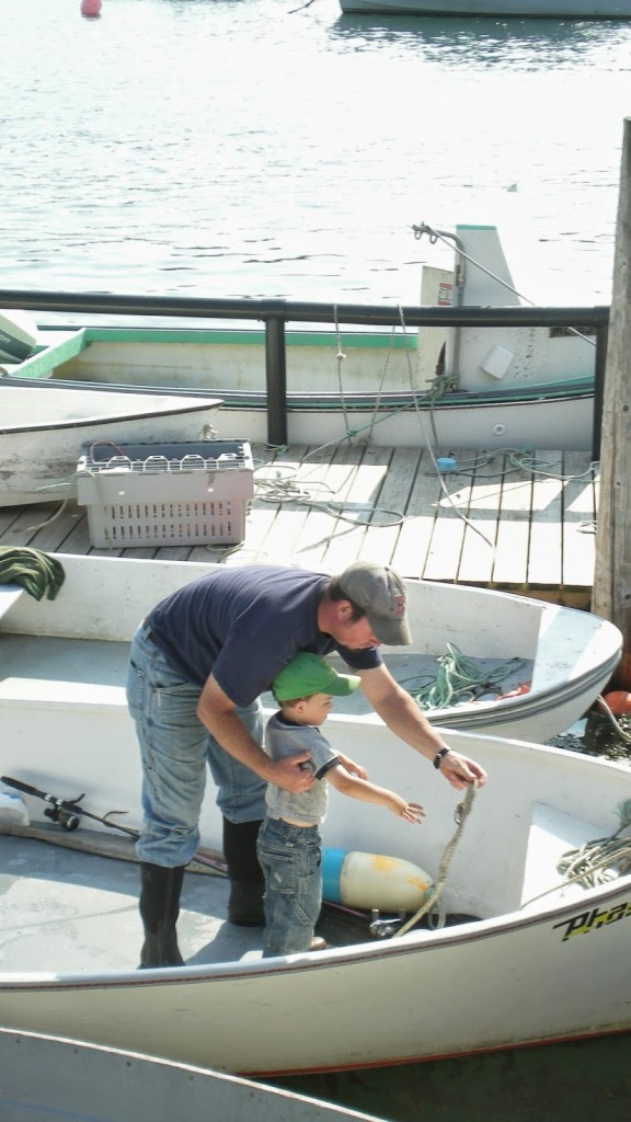 Father Son Lobster Fishing
