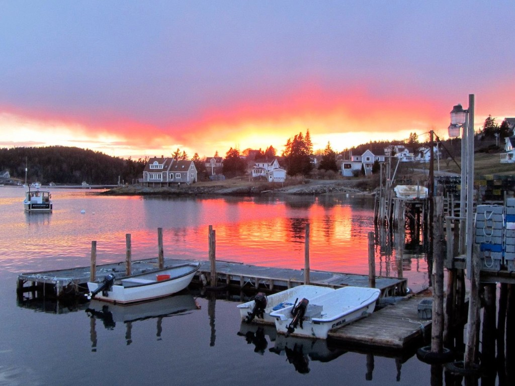 Cutler Harbor Sunset Maine
