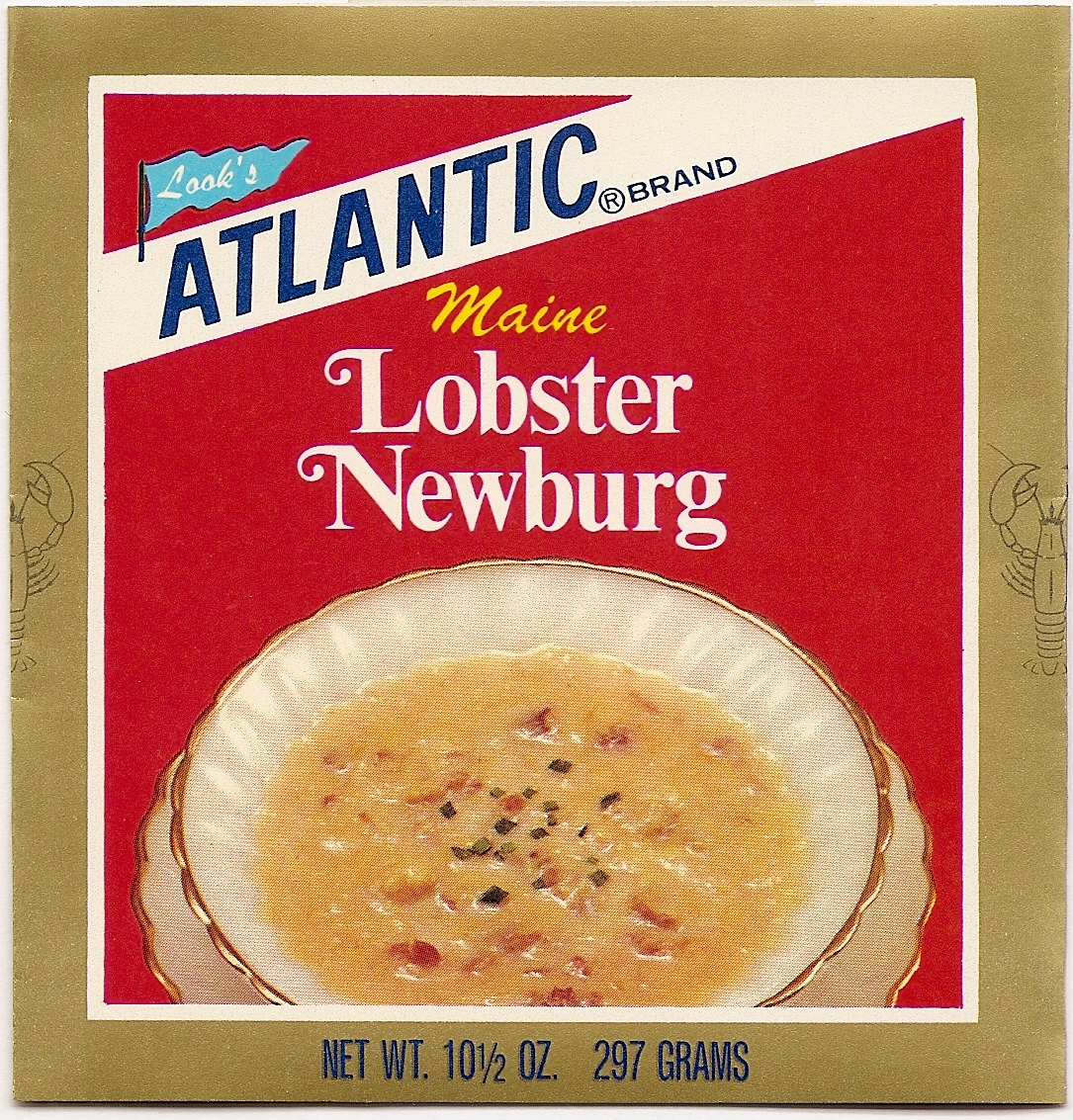 vintage lobster newburg label from Atlantic Lobster Co.
