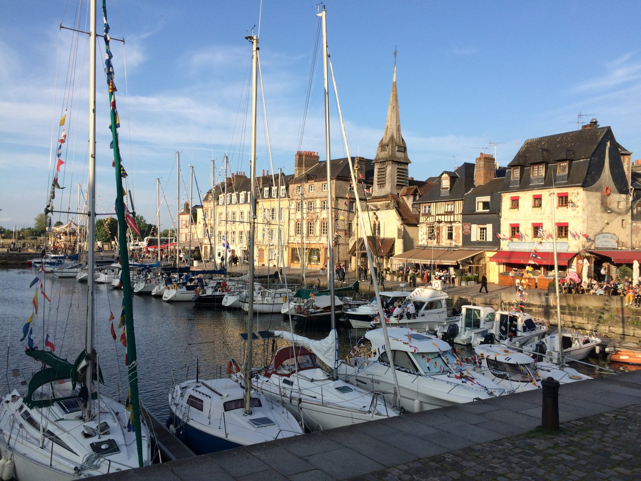 Honfleur France harbor