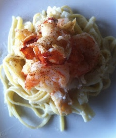 Lobster and Shrimp Fettuccine Alfredo