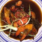Stir-fried lobster with black bean sauce 豆豉大龙虾