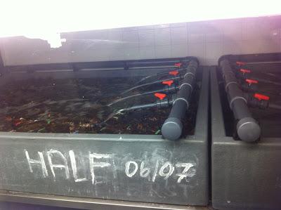 Burger and Lobster storage tanks
