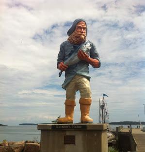 Eastport Maine Fisherman Statue