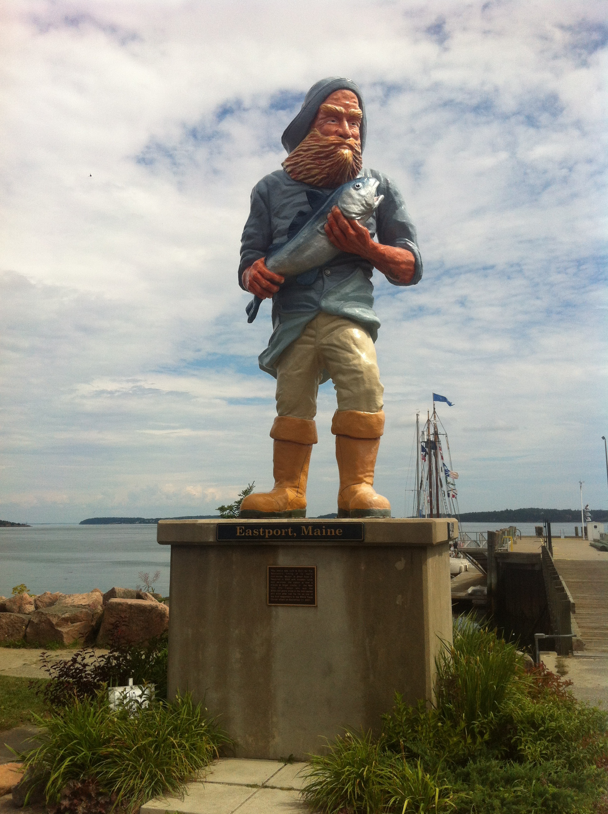 Fisherman Statue eastport maine