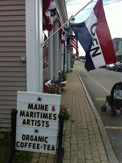 Picturesque Lubec Maine town