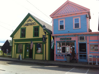 Downton Lubec Maine Storefronts