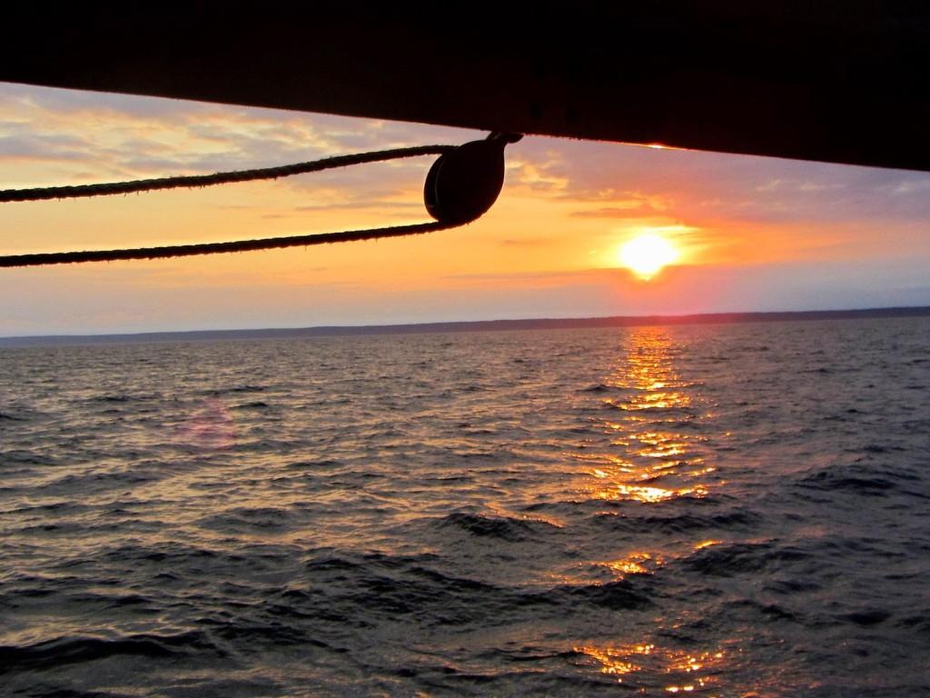 Lobster Fishing Boat Sunrise