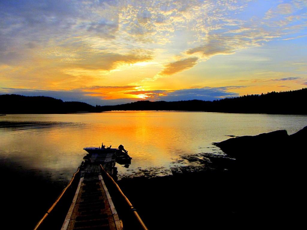 Cutler Harbor Sunset Maine