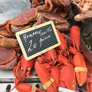 Honfleur France Saturday market