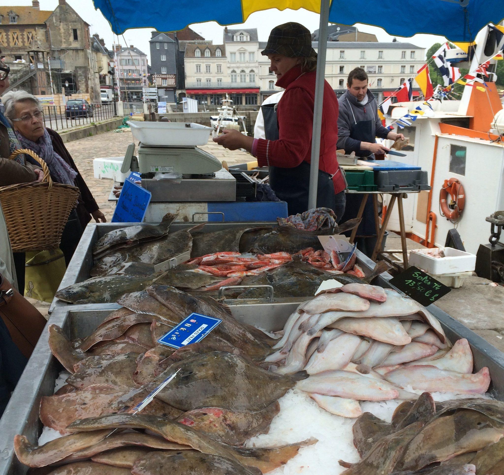 Honfleur France Fish Market