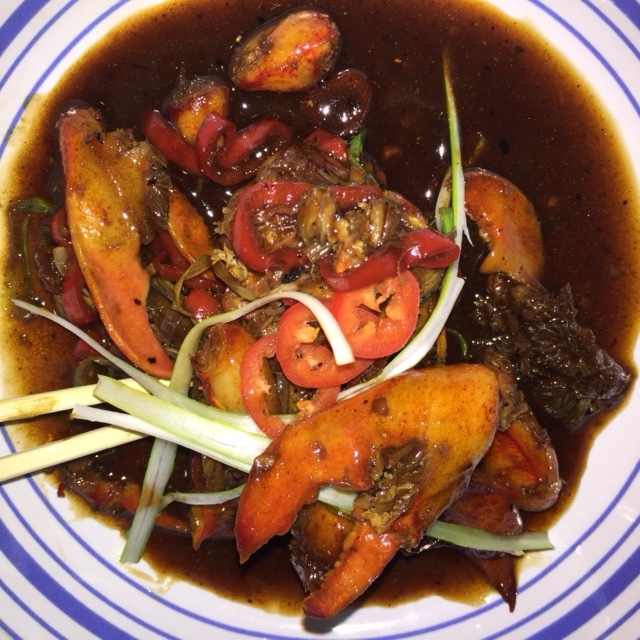stir-fried lobster with black bean sauce